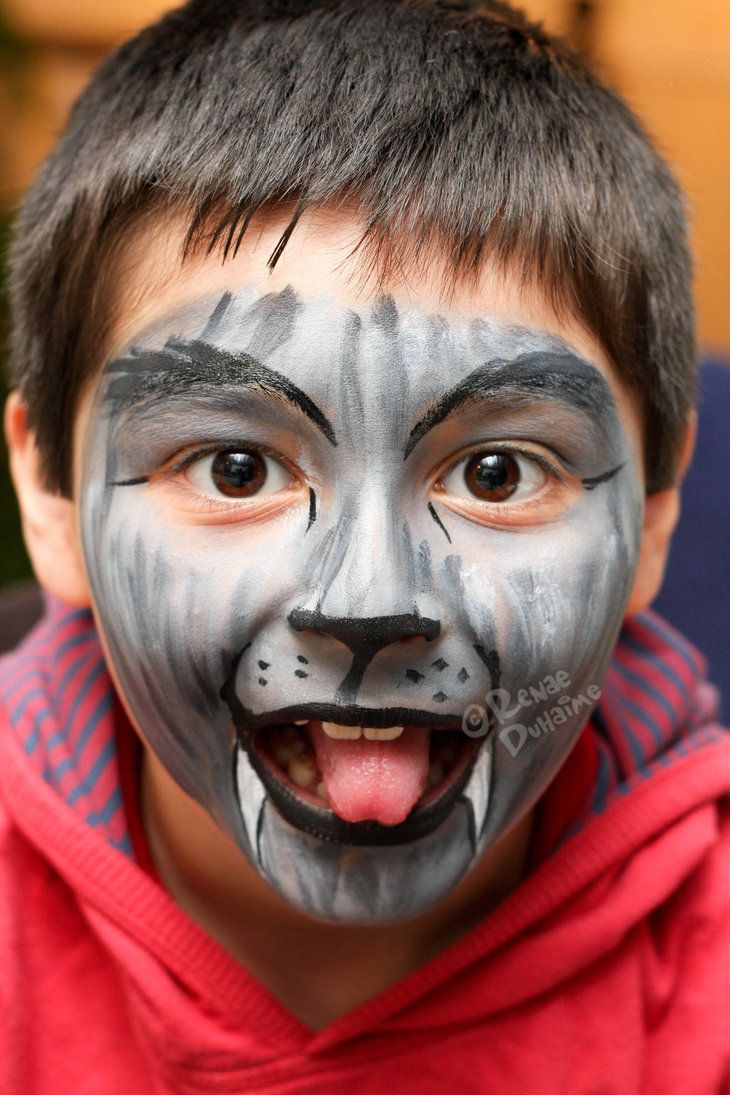 Sexy wolf face painting