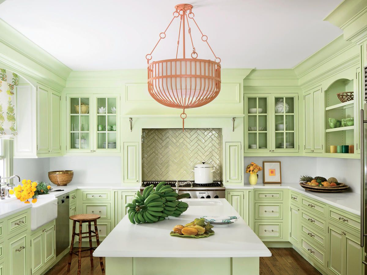 If You Want Your Home To Sell For More Consider Adding This To Your Kitchen Light Green Kitchen Green Kitchen Cabinets Beach Kitchens