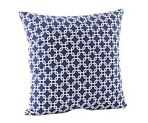 Cuscino in cotone blu e bianco - 45x45 cm
