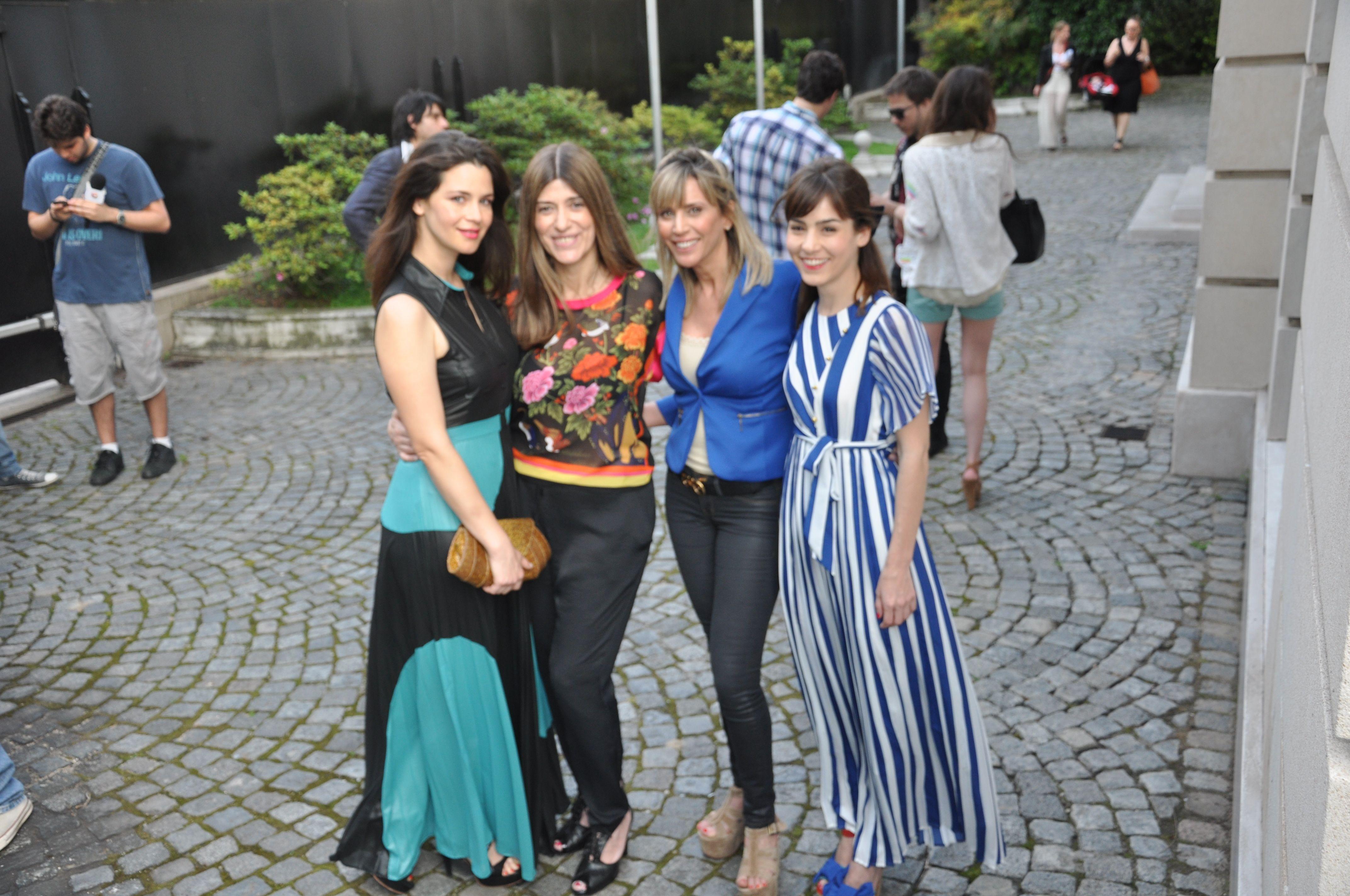 Con Adru Salonia, Pau Colombini y Paulita Reca.