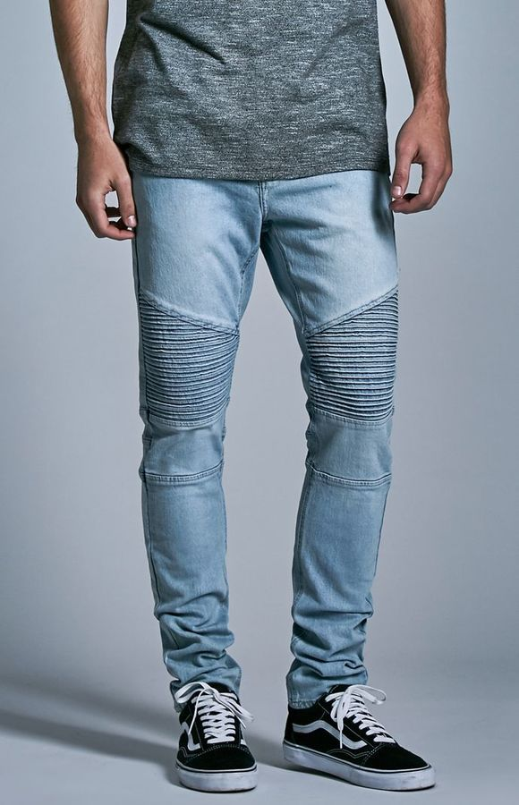 official photos 08abe 5f0a7 Bullhead Denim Co. Light Moto Stacked Skinny Jeans