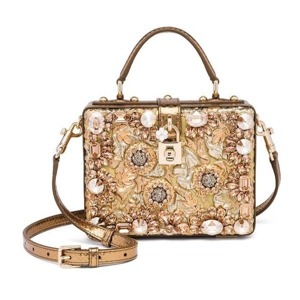 Dolce   Gabbana Rosaria Crystal-Embellished Box Bag (€4.080) ❤ liked on  Polyvore featuring bags 80a14604475