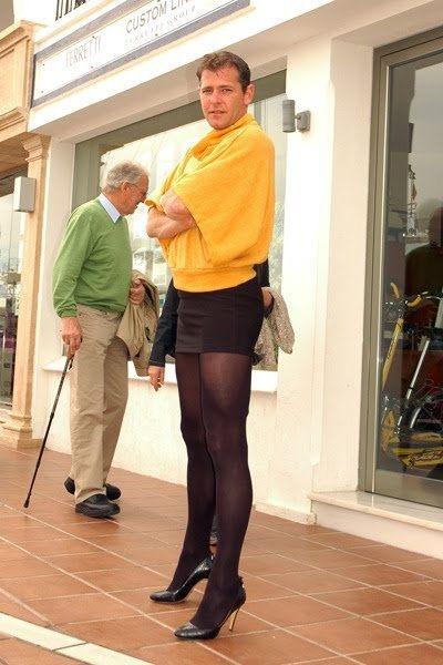 heels and thigh Crossdresser highs