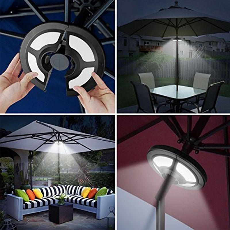 Amir Patio Umbrella Light Cordless With 36 Led Night Lights 2 Modes Brightness Adjustable Umbrella Led Patio Umbrella Lights Umbrella Lights Led Night Light