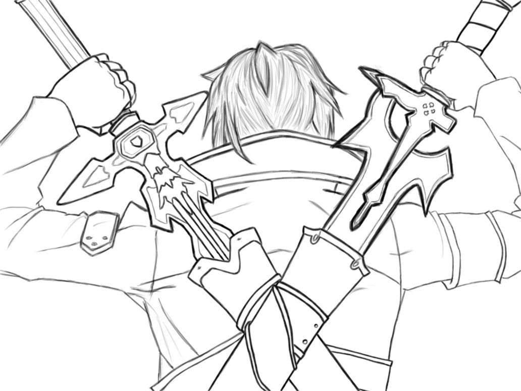 Kirito Dual Wielding by hidiousboydeviantart