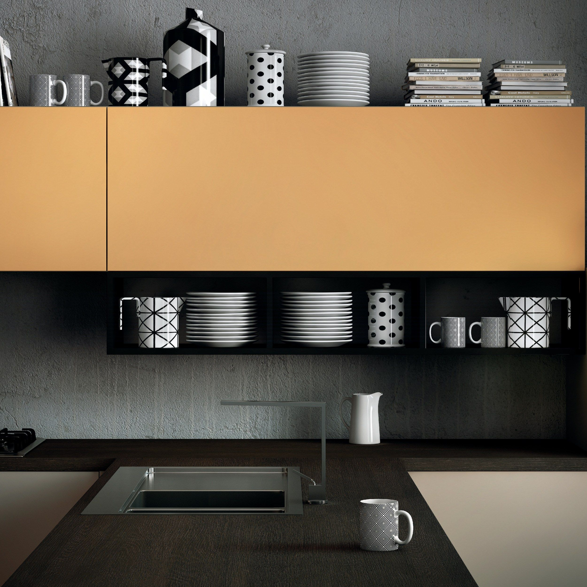 Cucina componibile MILANO by Del Tongo #design Prospero Rasulo ...