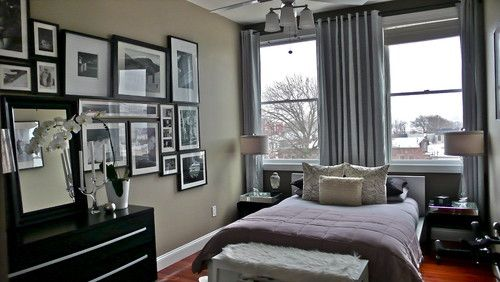 modern grey bedroom