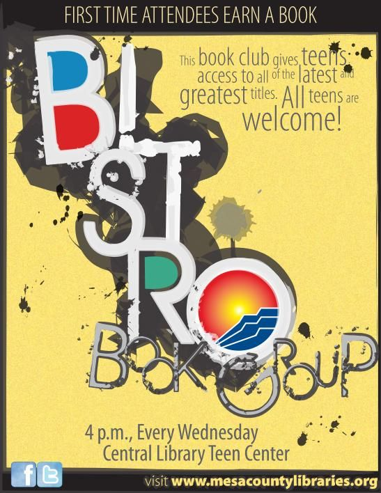 Bistro Book Group - Library Events - Mesa County Libraries - definitely forming a book club next year at high school....I know the readers who will make it happen.