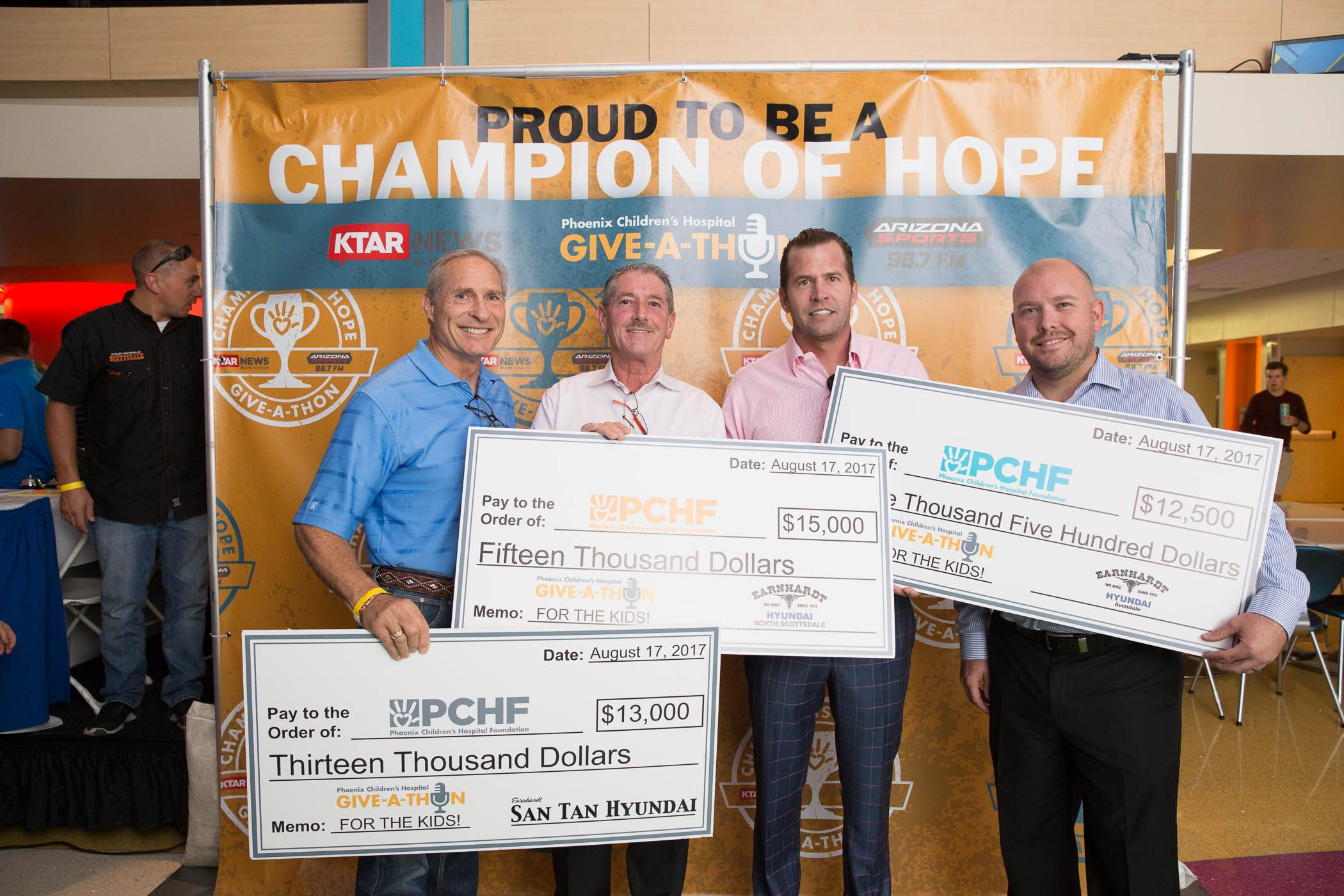 Earnhardt Hyundai Dealers are proud Champions of Hope for Phoenix C