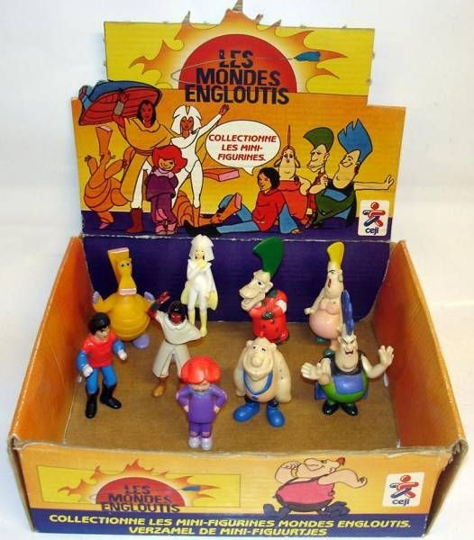 Spartakus And The Sun Beneath The Sea Pvc Figures Complete Set Of 9 With Display Box