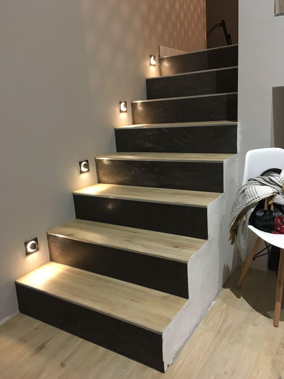 Contremarches En Beton Cire Escalier Beton Cire Deco Maison Deco Entree Maison