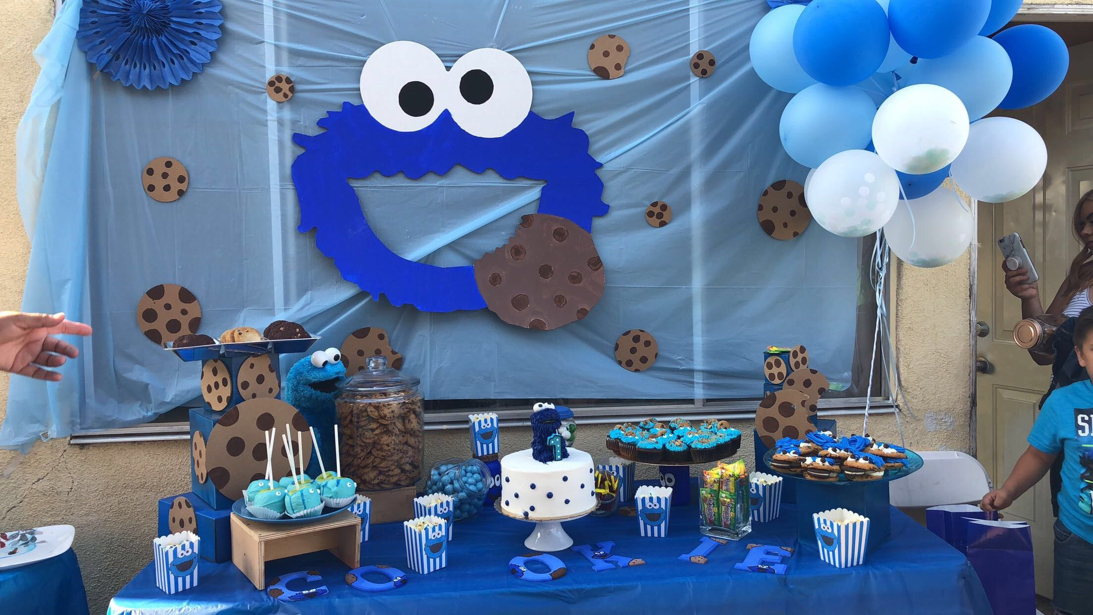 Cookie Monster Theme Candy Table Cookie Monster Party Decorations Cookie Monster Birthday Party Cookie Monster Party
