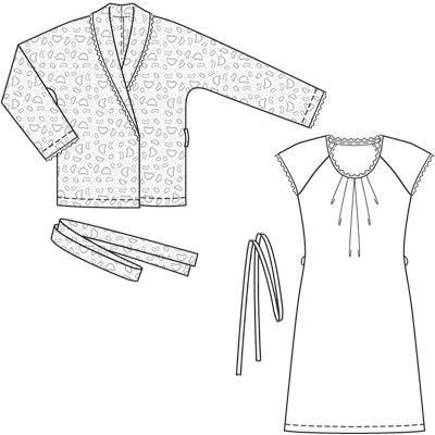 jacket 127A + nightgown 114 (plate) - 12/2008 - Home-wear Petite ...