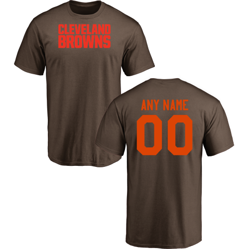 e90b0c56503 Men Cleveland Browns Design-Your-Own Short Sleeve Custom NFL T-Shirt ...