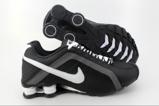 Mens NikeRunning Shox R4 Black Grey White Shoes need only $40.99 with  quality Assurance