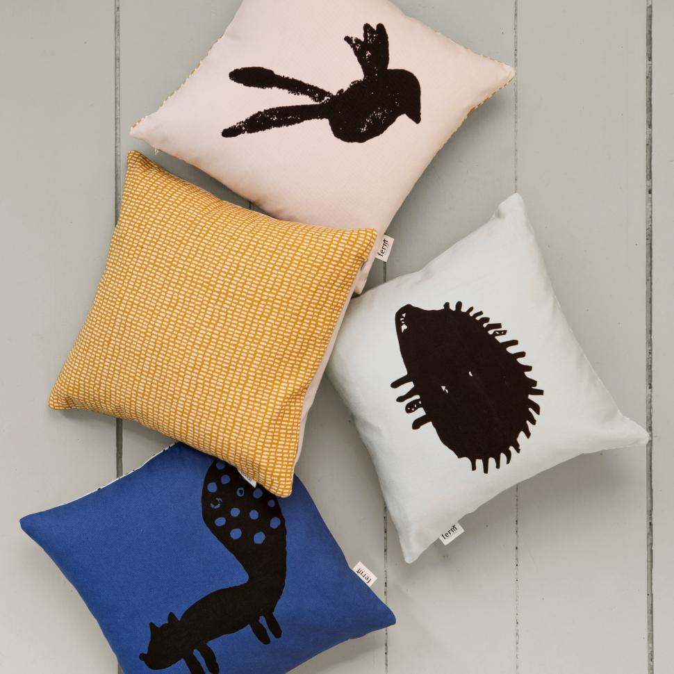 Silhouette cushionhedgehog in playroom pinterest