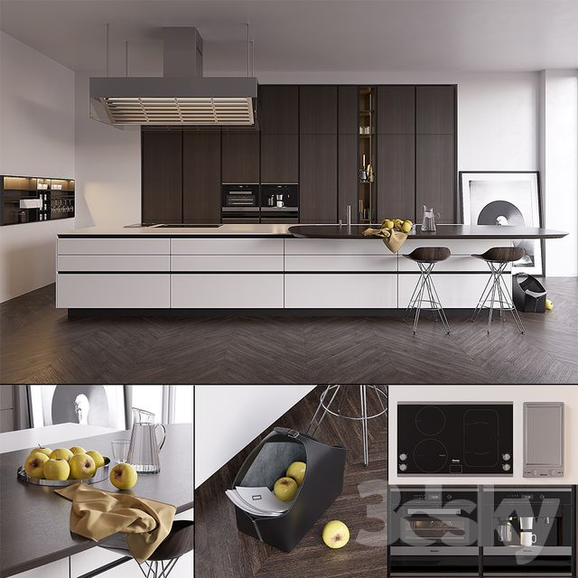 Kitchen Poliform Varenna Twelve (vray GGX, corona PBR ...
