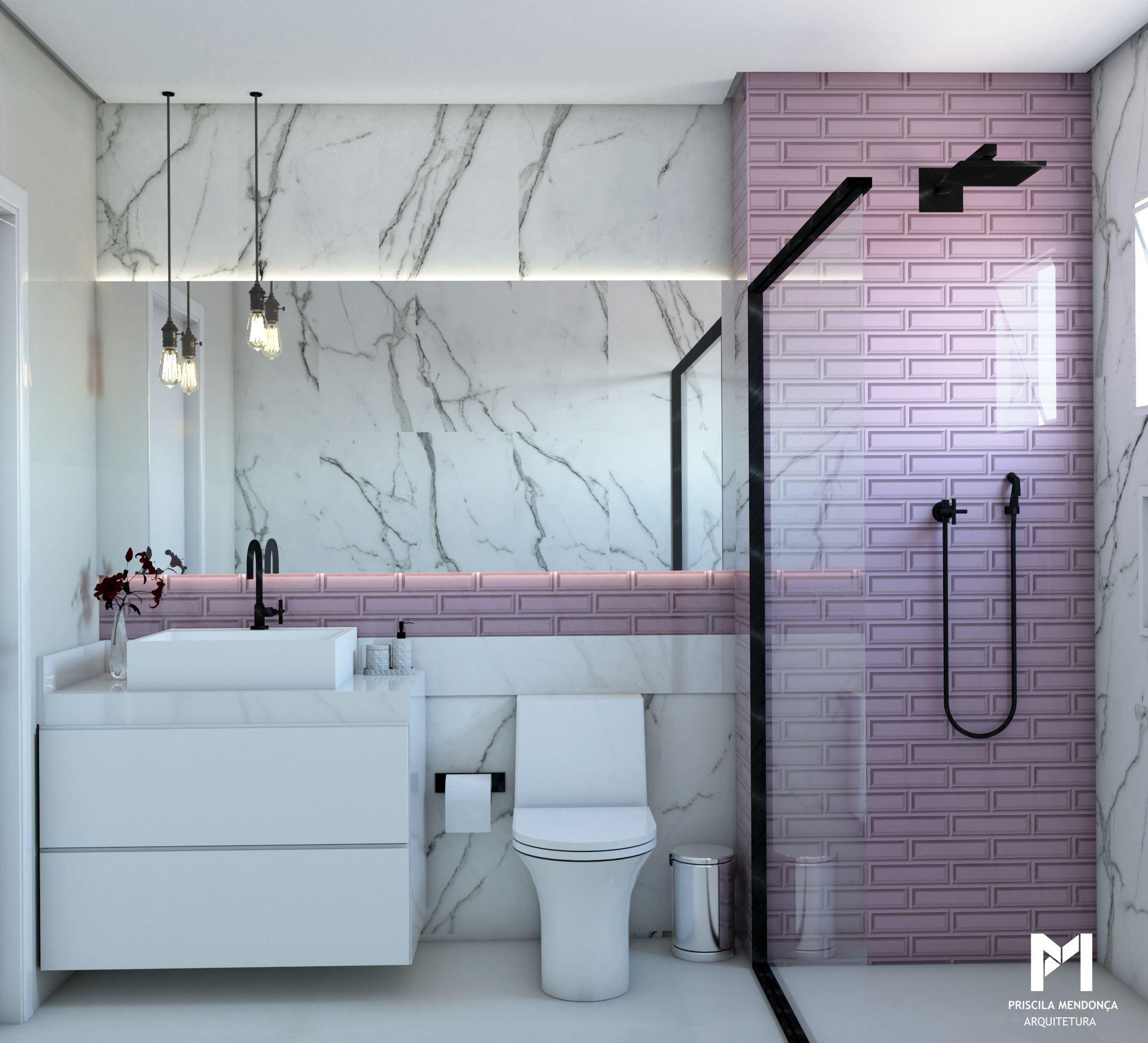 Banheiro Rosa Com Imagens Decoração