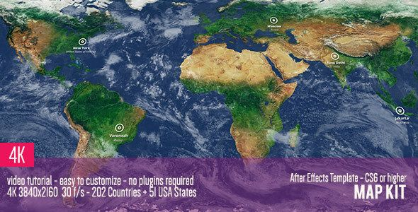 Map kit pinterest infographics motion design and template map kit by doru after effects template containing maps for 202 countries and all 51 us states 3d and 2d versions included no plugins required gumiabroncs Choice Image