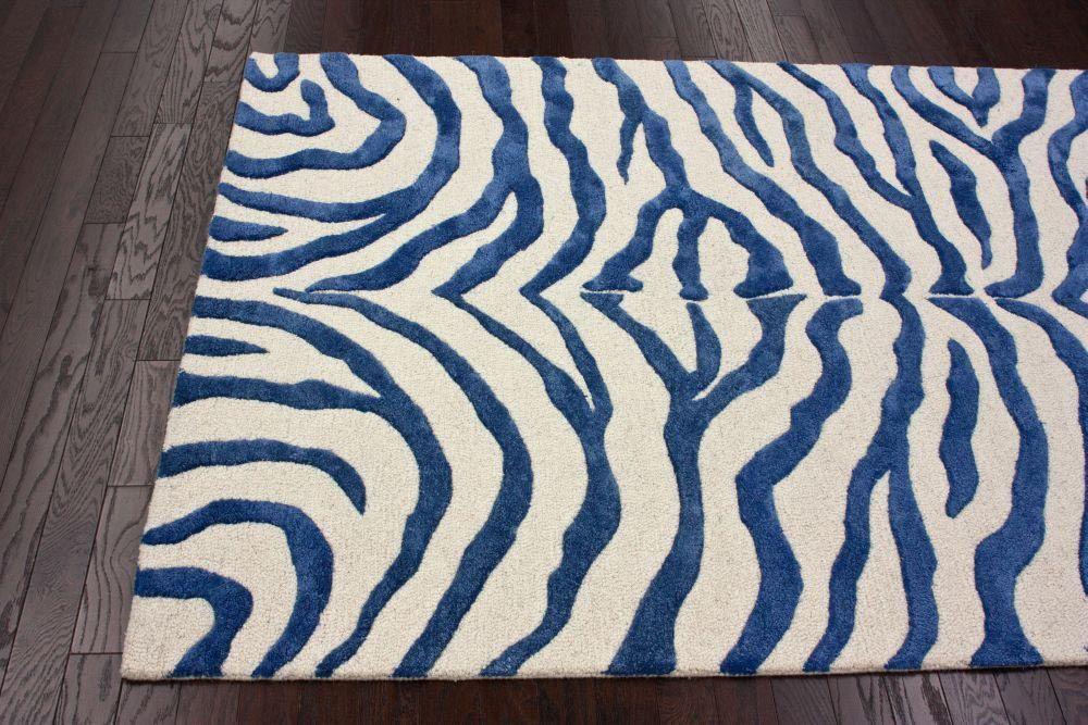 Blue Zebra Print Rug Zebra Print Rug Printed Rugs Rugs