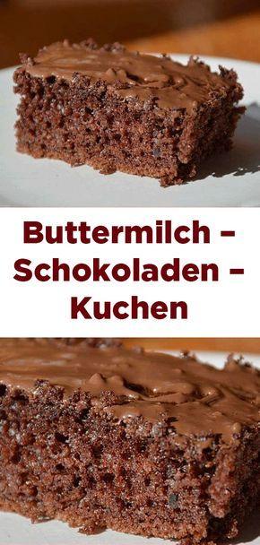 Buttermilch – Schokoladen – Kuchen #halloweenkuchen