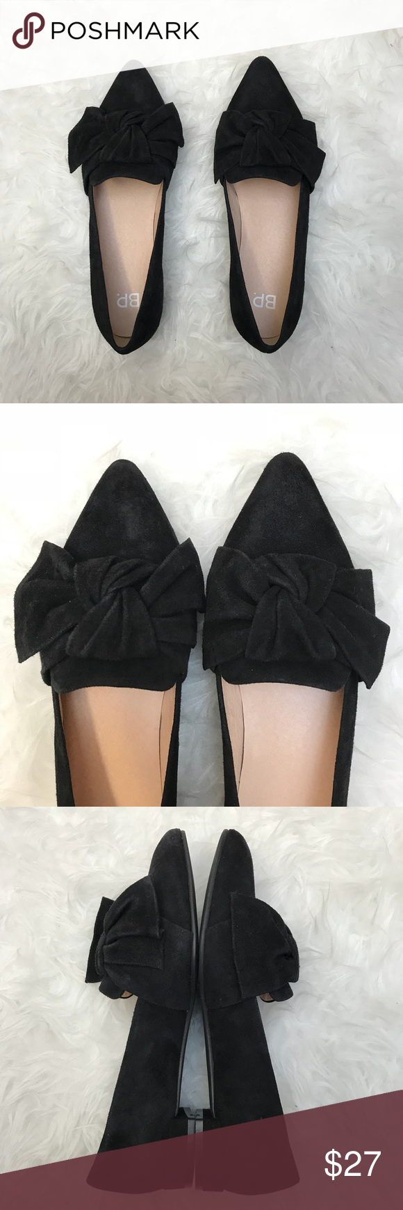 b1b84b95d4b Nordstrom BP Suede Flats Great pre-owned BP Kari Bow pointed toe loafers.  Condition