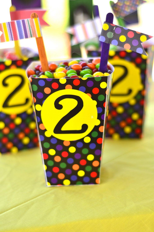 Crayon party printable diy birthday favor box by love the