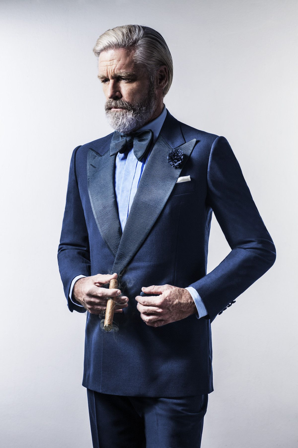The French Blue Double-Breasted Dinner Suit | Pinterest