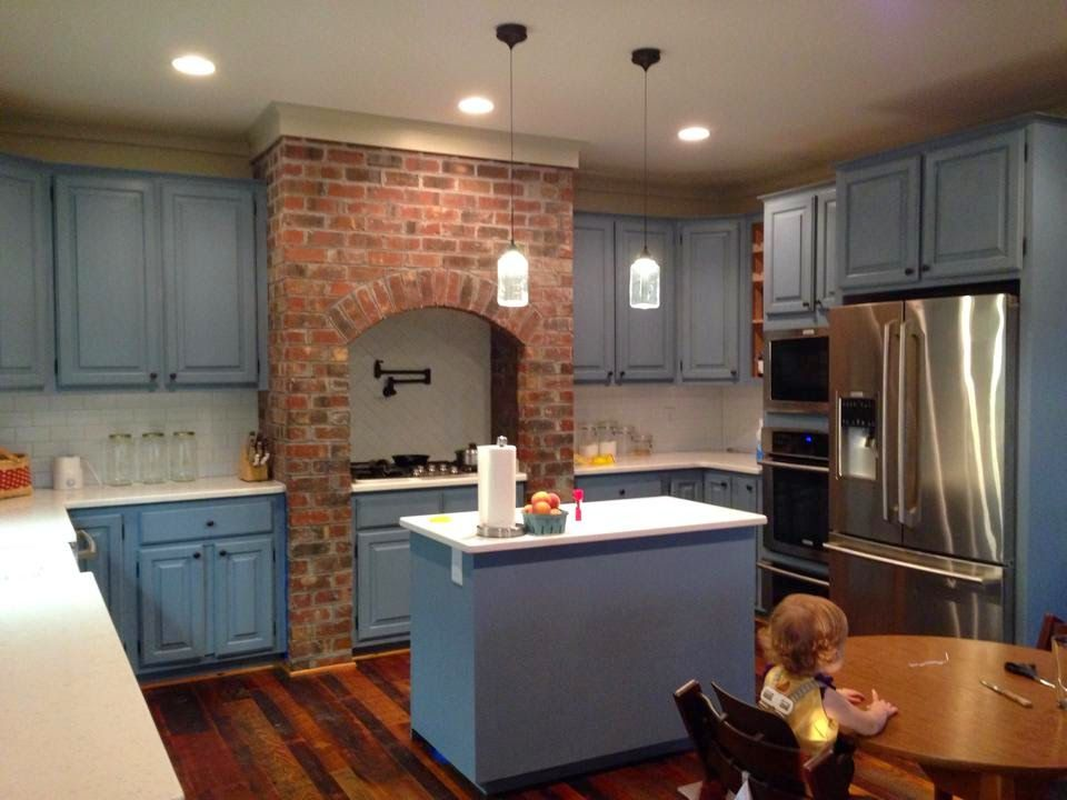This kitchen was painted in a custom mixed One Step Paint