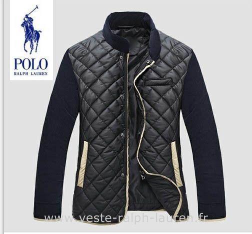 fe0c1d039fdc21 Polo officiel - Ralph Lauren hommes manteau nouvelle coton mode pas cher  noir rew Doudoune Ralf