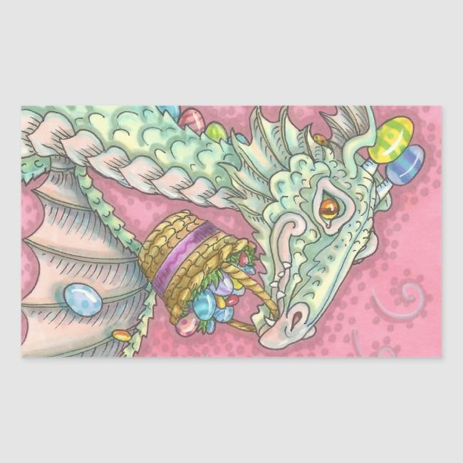 WHITE EASTER EGG DRAGON FANTASY STICKERS Sheet