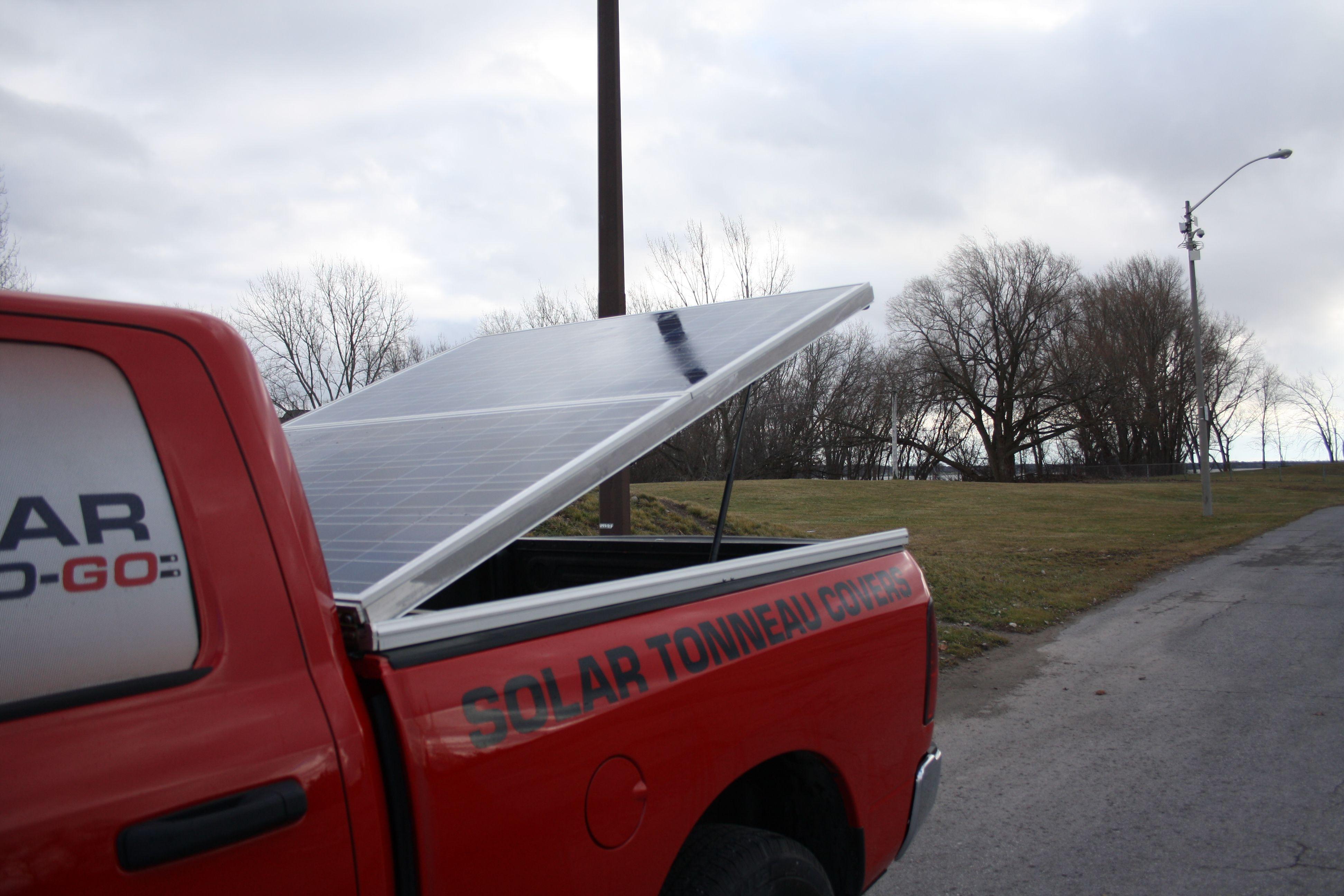 solar tonneau cover opened Tonneau cover, Solar, Cover