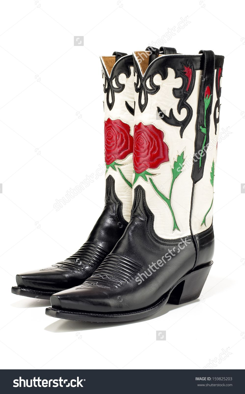 Image result for black and rose cowboy boots