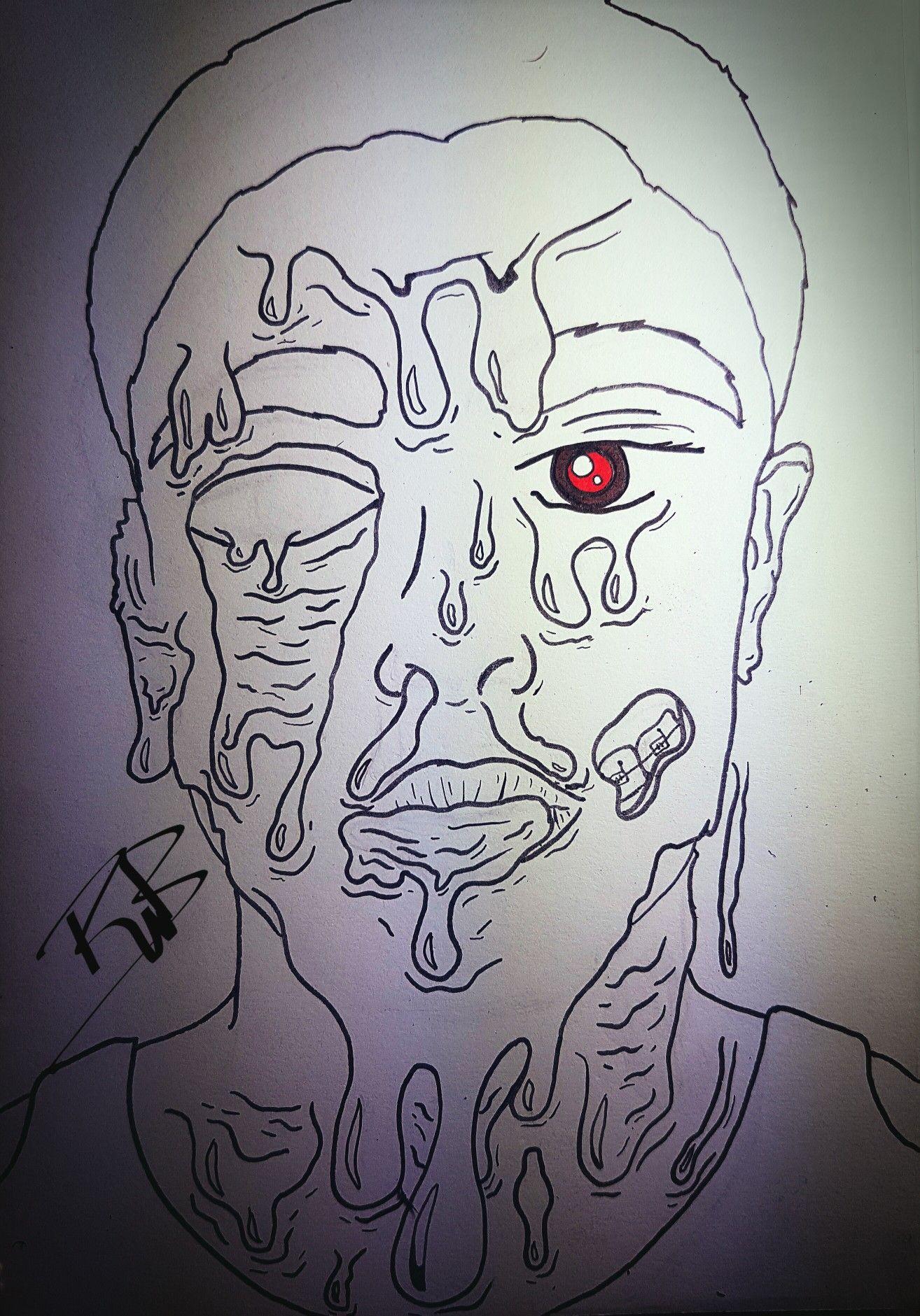 #myself #zombie #face #melting