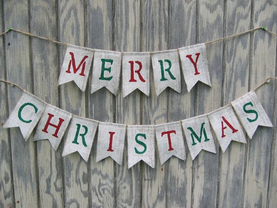 This Merry Christmas Bunting Would Make A Great Addition To Your
