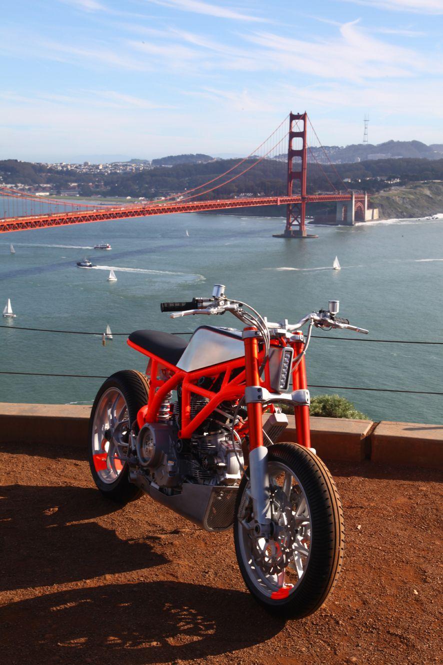 Ducati 'Hyper Scrambler' custom motorcycle designed and built by Hugo Eccles of Untitled Motorcycles San Francisco. Photo by Erik Jutras @mr_pixelhead