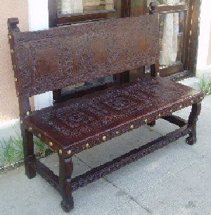 The hand tooled leather is so beautiful spanish colonial for R furniture canoga park