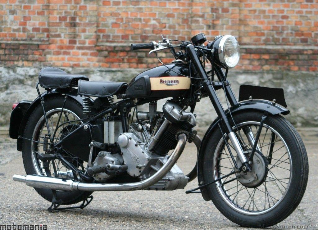 Panther M100 600cc 1952 Classic Motorcycles Vintage Bikes Classic Bikes