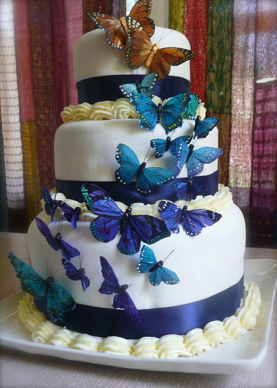 Gluten free butterfly wedding cake gluten free wedding