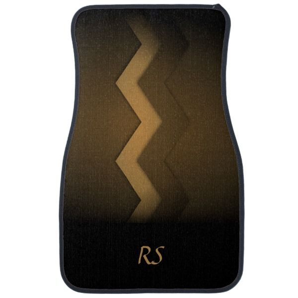 97dbd9dc495 Brown Zigzag Design Car Floor Mat - Look at the cool mat for your car.  Personalize it and make it your own!  giftideas  gift  giftsfordad   fathersday  daddy
