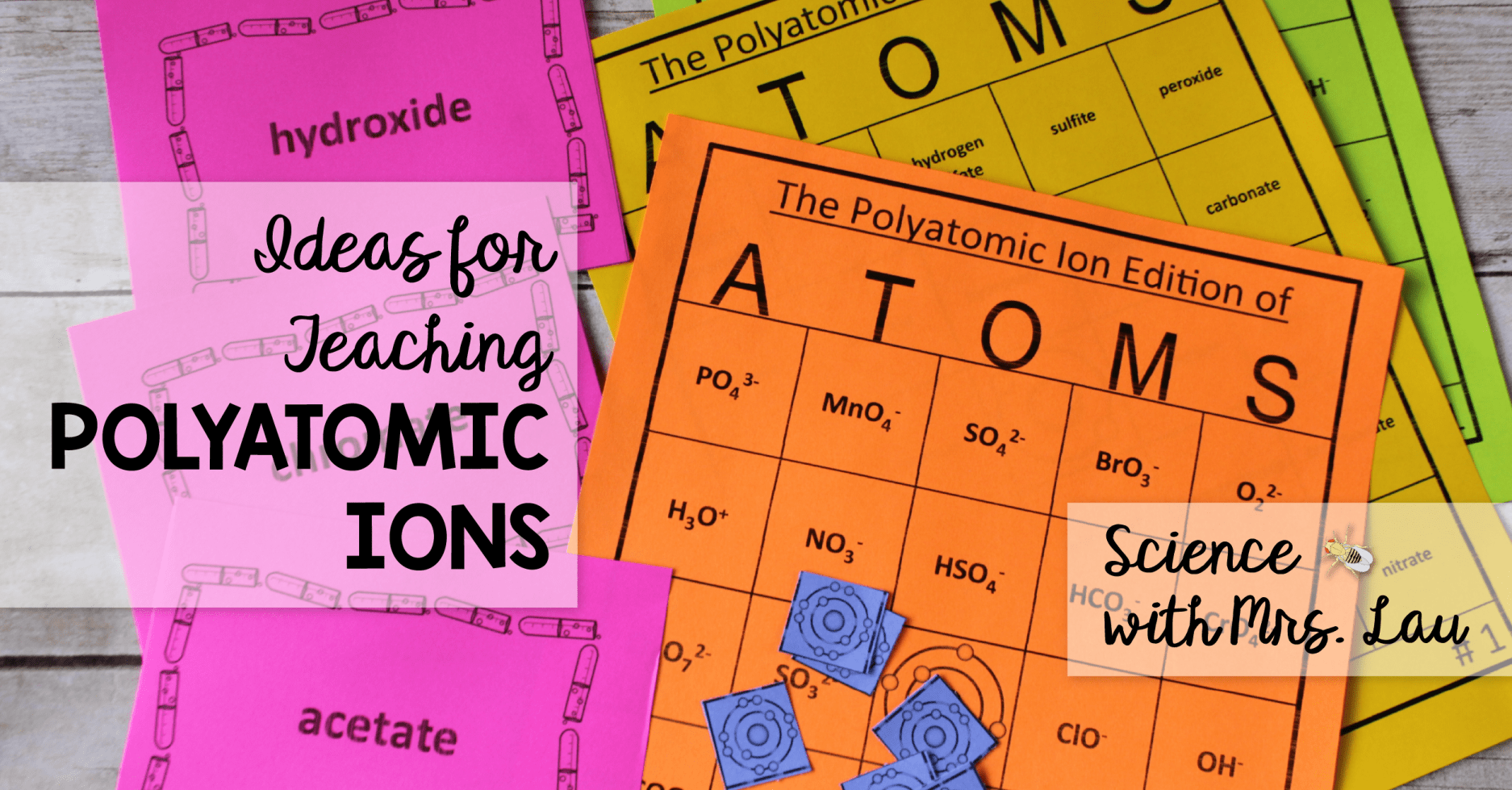 Tips For Teaching Polyatomic Ions