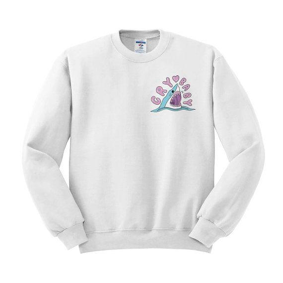 f4ef13041f Crybaby Shark Crewneck Sweater