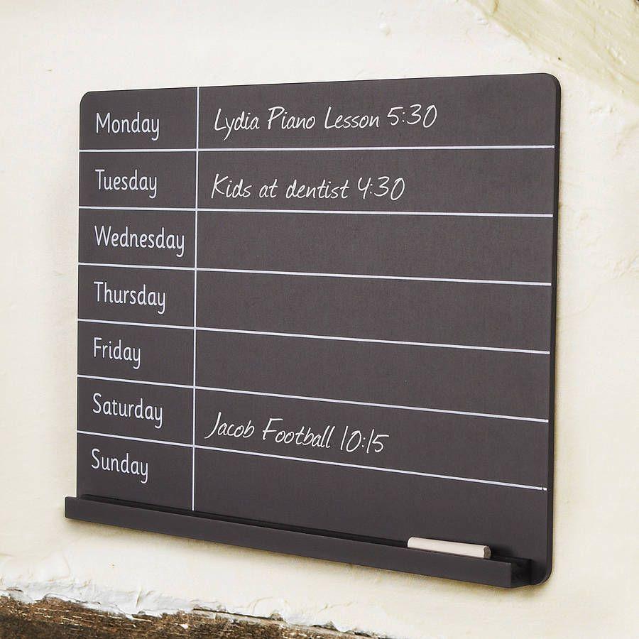 Chalkboard Week Planner Blackboard Chalk board Memo Shabby Chic Memo Boards