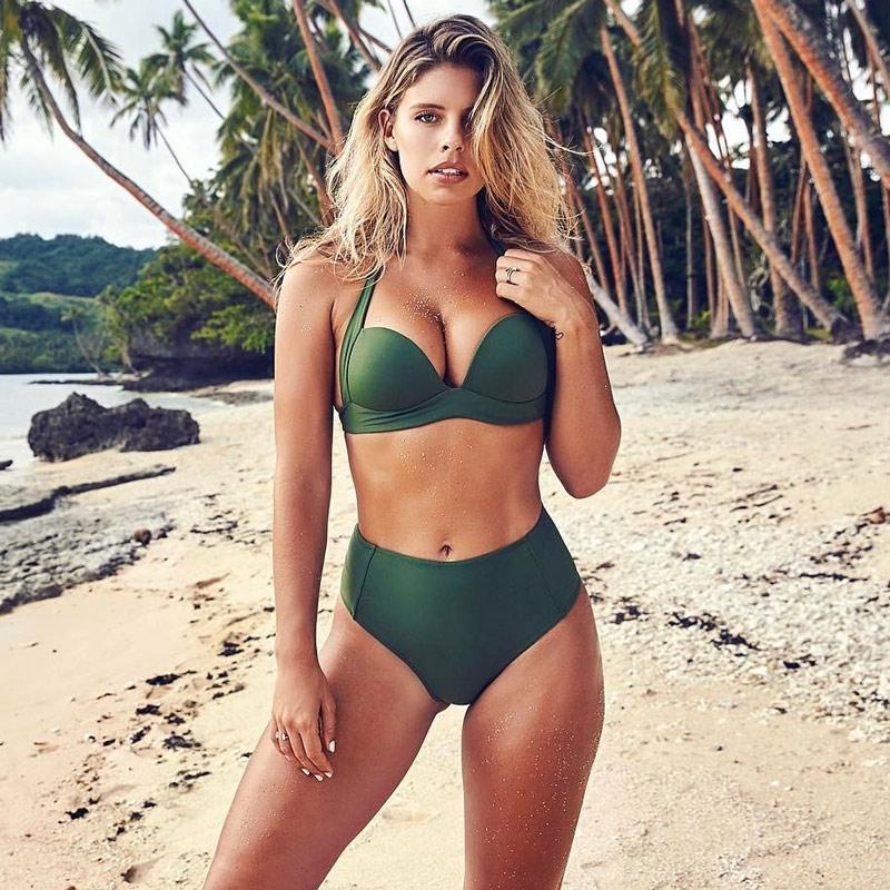 c729bf6d5b TeLaura Sexy High Waist Bikini Set Swimwear Women Swimsuit Push Up ...