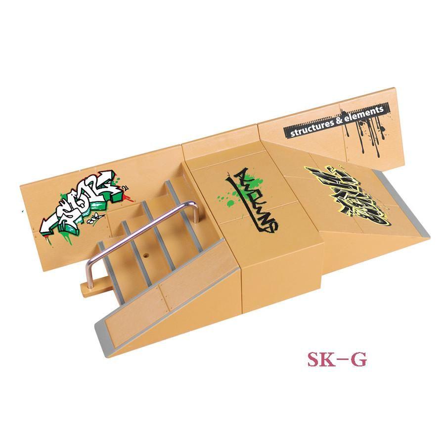 5d1c4e0b91f8 SK-G Steps & Plane Slope Finger Skateboard Park Ramp & Fingerboard Parts  for Tech Deck & Finger Board Stage Property