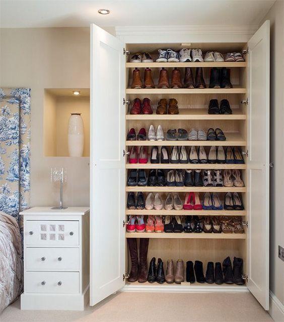 Closets zapateros te van a encantar pinterest closet for Zapatero para habitacion