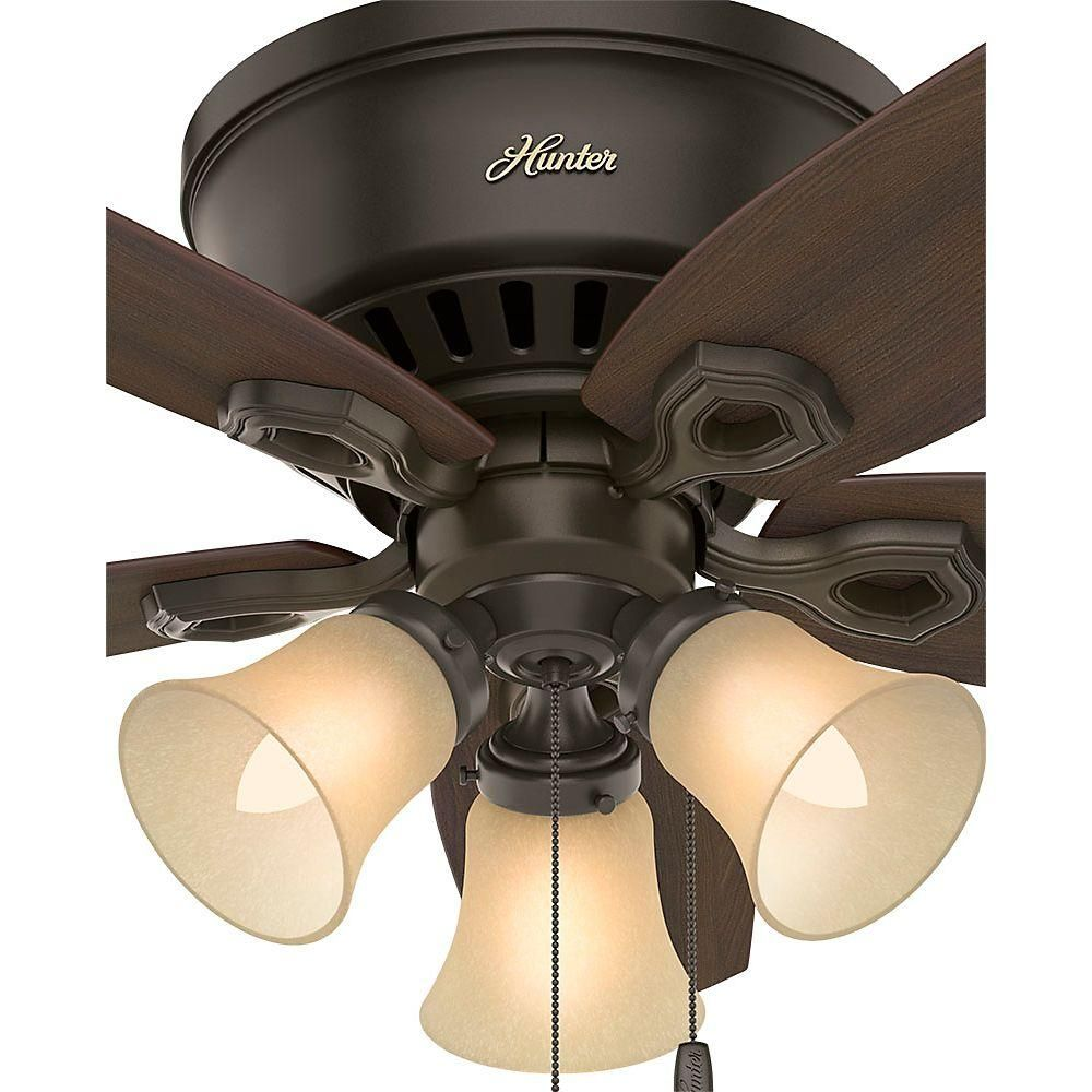 Hunter Builder Low Profile 42 in. Indoor New Bronze Ceiling Fan-51091 - The Home Depot