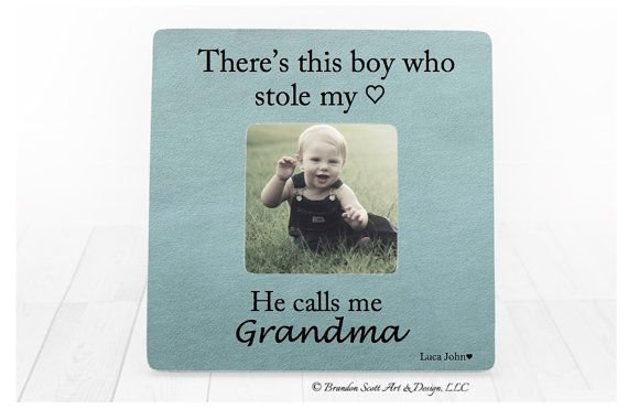 Mothers Day Gift for Grandma Nana Grandmother Gift Personalized Picture frame Grandma Gift from Grandson Theres this boy Grandma Frame