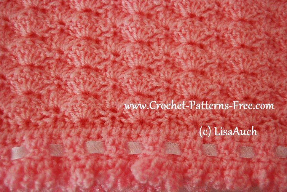 Free Crochet Baby Blanket Pattern In Shell Stitch Pinterest New Crochet Baby Blanket Shell Pattern