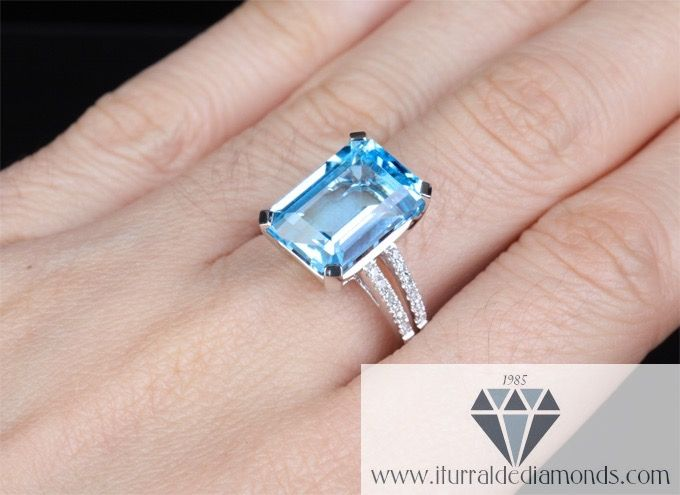 Handmade London Bule Topaz Solid Silver Ring Natural Crystal Engagement Ring For Women Prong Setting Oval Cut Ladies Ring